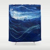 pocket Shower Curtains featuring pocket weather by j.Webster