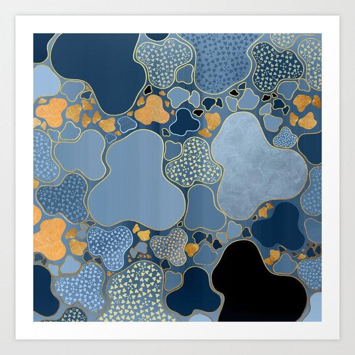 My Blue Imaginary Ceiling Art Print