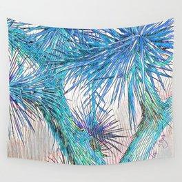 Joshua Tree VGBlue by CREYES Wall Tapestry