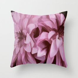 Just The Two Of Us - Painterly Dahlias Throw Pillow