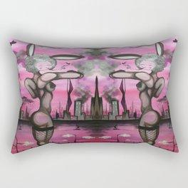 City Bunny Rectangular Pillow