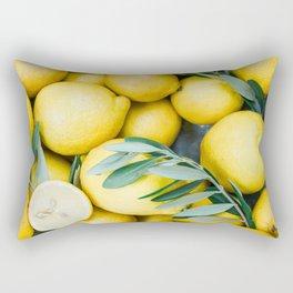 Lemons & Olive branches | Italian lifestyle | Travel photography food wall art print Rectangular Pillow
