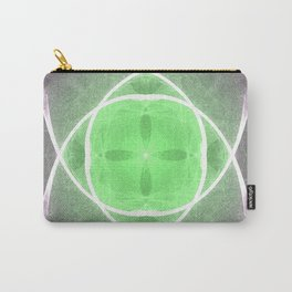 Lilac and Green Carry-All Pouch