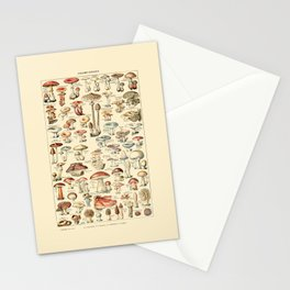Trippy Vintage Mushroom Chart // Champignons by Adolphe Millot 19th Century Science Artwork Stationery Cards