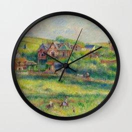 """Auguste Renoir """"Le châlet de Blanche Pierson à Pourville"""" Wall Clock"""