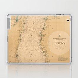Map of Lake Michigan 1898 Laptop & iPad Skin