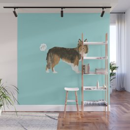 sheltie funny farting dog breed pure breed pet gifts Wall Mural