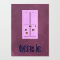 monsters inc Canvas Prints featuring Monsters Inc. by Matt Bacon