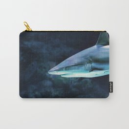 Gray Shark Head (Color) Carry-All Pouch