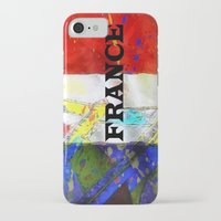 france iPhone & iPod Cases featuring FRANCE by Brian Raggatt