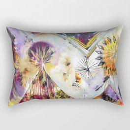 """Burn Bright"" Original Painting by Flora Bowley Rectangular Pillow"
