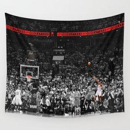 Kawhi Leonard's incredible buzzer-beater shot  Wall Tapestry