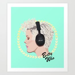 Betty Who   Pop Star Art Print