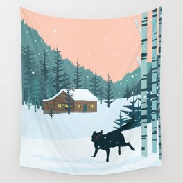 Back home Wall Tapestry