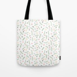 Festive minimalistic holiday pattern Tote Bag