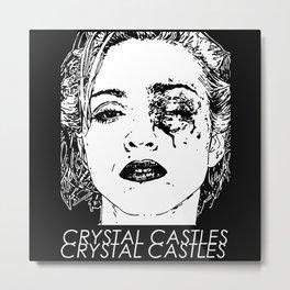 Cristal Castles Band Metal Print
