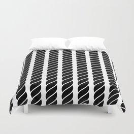 Black and white rope pattern Duvet Cover
