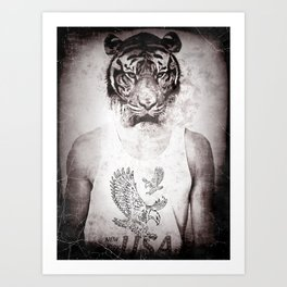 Animal graphic design Art Print