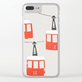 Barcelona Cable Cars Clear iPhone Case