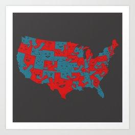 United We Hug Art Print