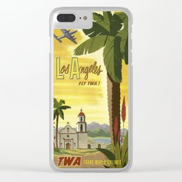 Vintage poster - Los Angeles Clear iPhone Case