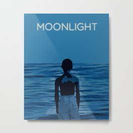 Moonlight with Title Metal Print