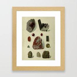 Garnet Minerals Framed Art Print
