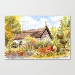 Old Farmer House in Hungary Canvas Print