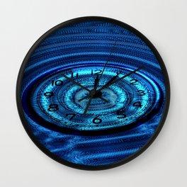 Hands of Time Blue Rippling Water Art Motif Wall Clock