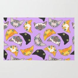 """Oro?"" Cats-Lavender Rug"