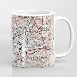 Vintage Map of Chapel Hill North Carolina (1946) Coffee Mug