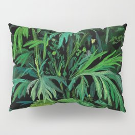 Green & Black, summer greenery Pillow Sham