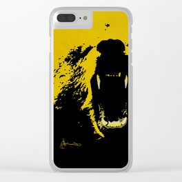 """TygerB.com """"Heated Grizzle"""" Painting Clear iPhone Case"""