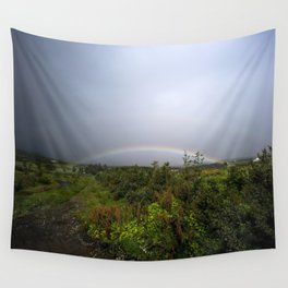 under the rainbow Wall Tapestry