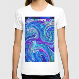 Lavander Paint Swirl T-shirt