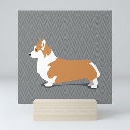 Roaring Corgi by IxCO Mini Art Print