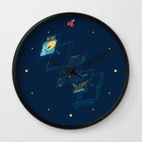 blueprint Wall Clocks featuring Blueprint Waka-Waka by Manny Peters Art & Design