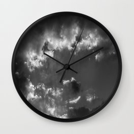 Plane and storm Wall Clock
