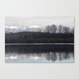 A lake in the mountains Canvas Print