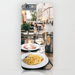 Dinner in Rome iPhone Case