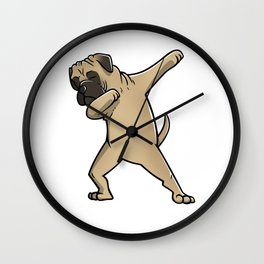Funny Dabbing Bullmastiff Dog Dab Dance Wall Clock