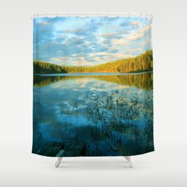 Earth, Water and Air Shower Curtain