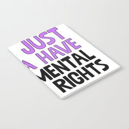 Girls Just Wanna Have Fundamental Human Rights Notebook