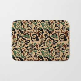English Bulldog Camouflage Bath Mat