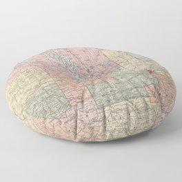 Vintage Map of Manitoba (1912) Floor Pillow