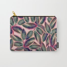 Pink Plant Ficus Carry-All Pouch