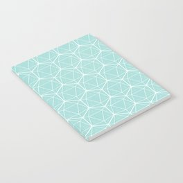 Icosahedron Seafoam Notebook