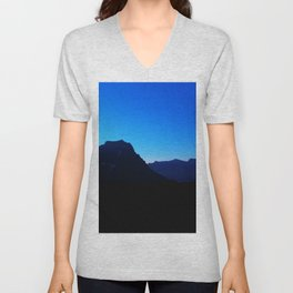 Dawn at Glacier National Park, Rocky Mountains, Going to the Sun Road, Logan Pass Unisex V-Neck