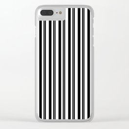Ticking Black and White Clear iPhone Case