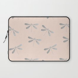 dragonfly pattern: silver & rose Laptop Sleeve
